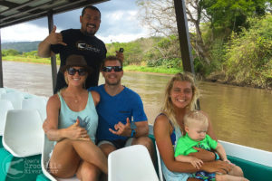 Shark attack survivor and professional surfer Bethany Hamilton and family on our tour