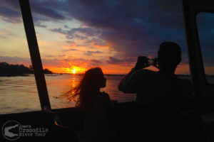 Beautiful sunsets from our boat