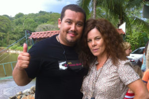 "Actress Marcia Gay Harden on our tour, filming for her movie ""After Words"""