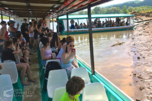 Our river boats with tour visitors