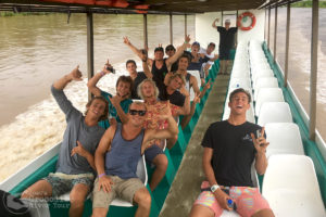 Professional Costa Rican surfer Noe Mar Mcgonagle and pro surfer friends having fun on our tour